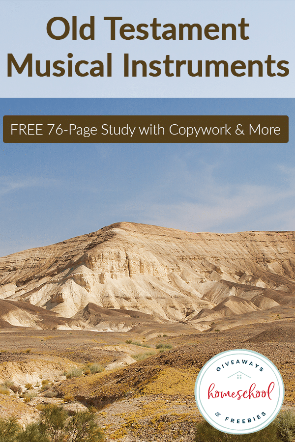 FREE Old Testament Musical Instruments Study - Homeschool Giveaways #musicalinstruments
