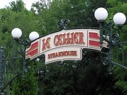 Le Cellier Steakhouse, EPCOT.  A steak restaurant designed like a grand hotel's wine cellar, is under the Canada Pavilion in Epcot theme park at Walt Disney World