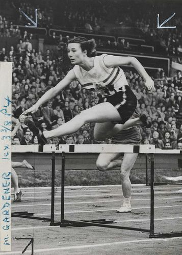 British Favourite, Maureen Gardner. Olympic Games, London, 1948.