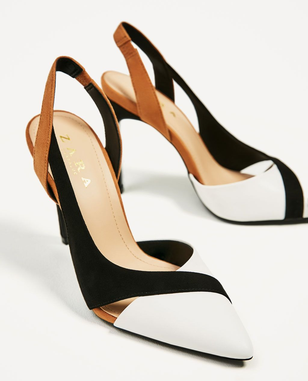 Contrast High Heel Shoes View All Shoes Woman Zara Canada Heels High Heels High Heel Shoes