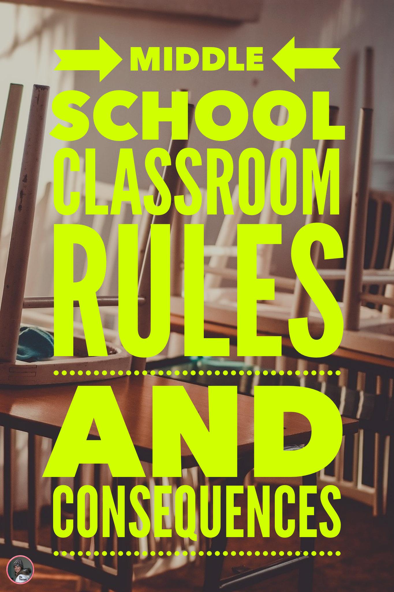 Middle School Classroom Management Behavior Management