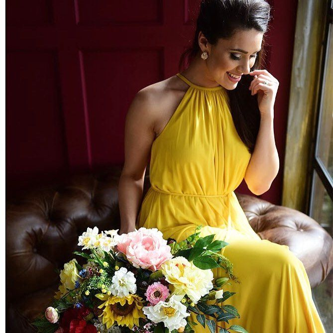 Sunflower Yellow Bridesmaid Dress From David S Bridal Photo By Ben D Of The Pros Yellowwedding