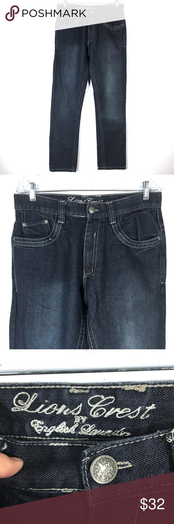English Laundry Lions Crest Jeans Straight Leg 30 Straight Leg