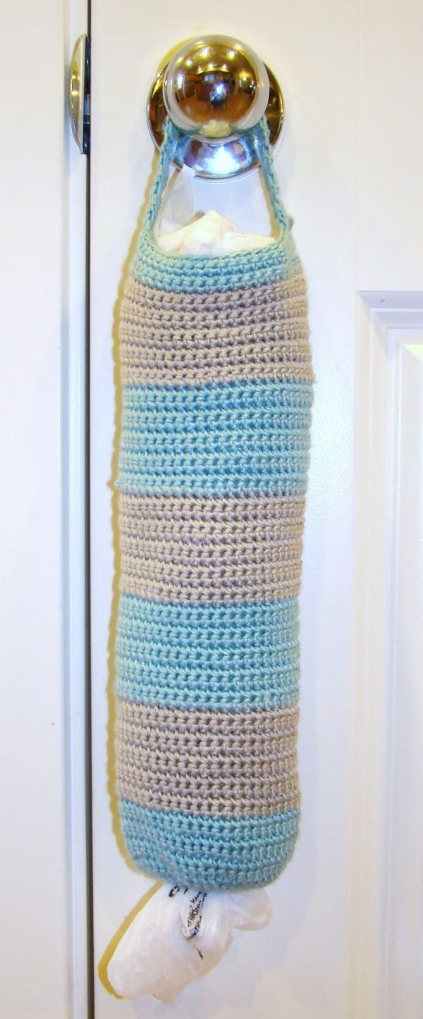 Grocery Bag Holder, maybe some one would crochet this for me...hint ...