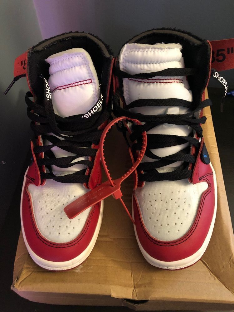 68c051fc04bb51 nike off white jordan 1 chicago SIZE 7  fashion  clothing  shoes   accessories