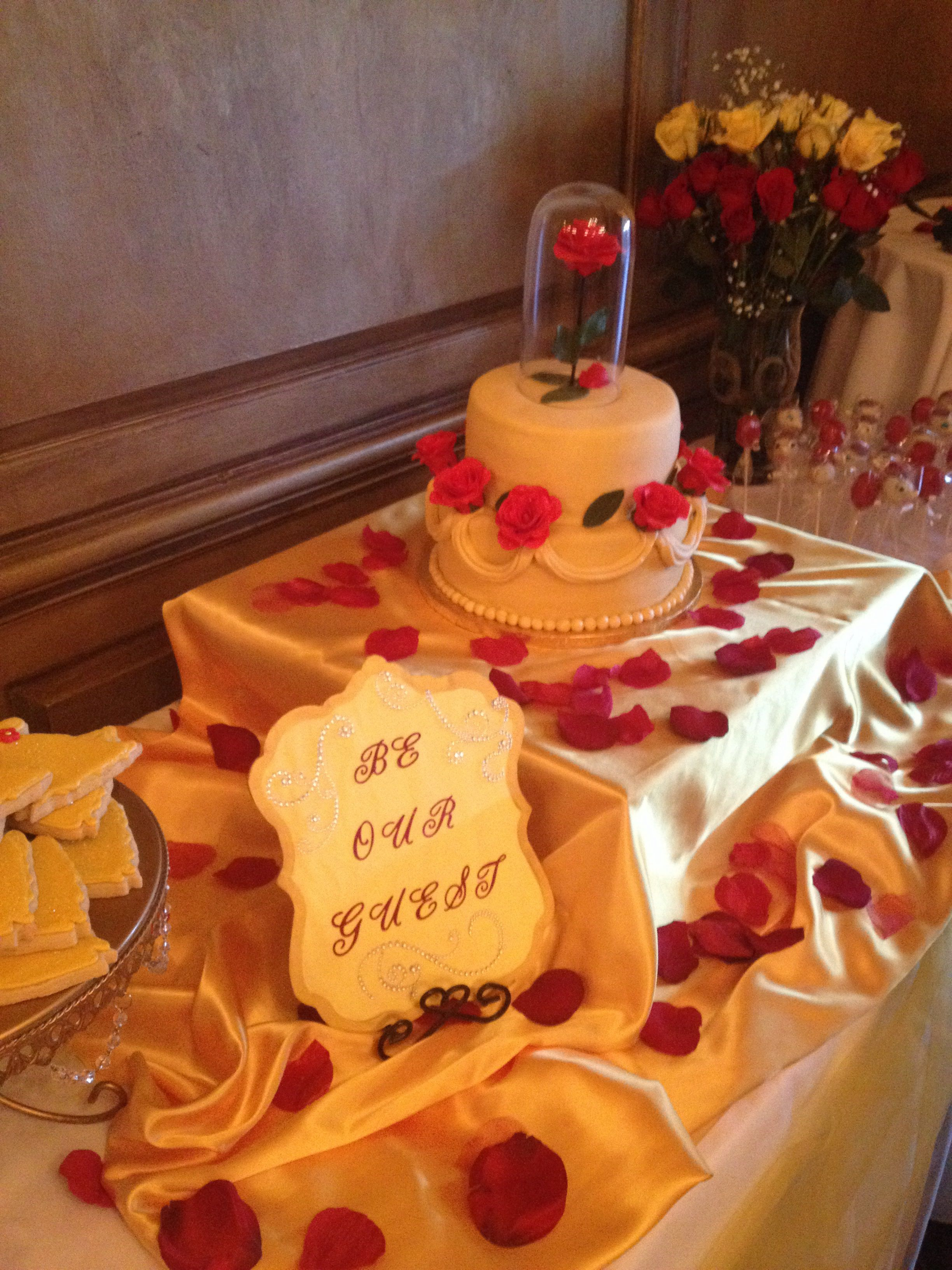 Beauty And The Beast Dessert Table
