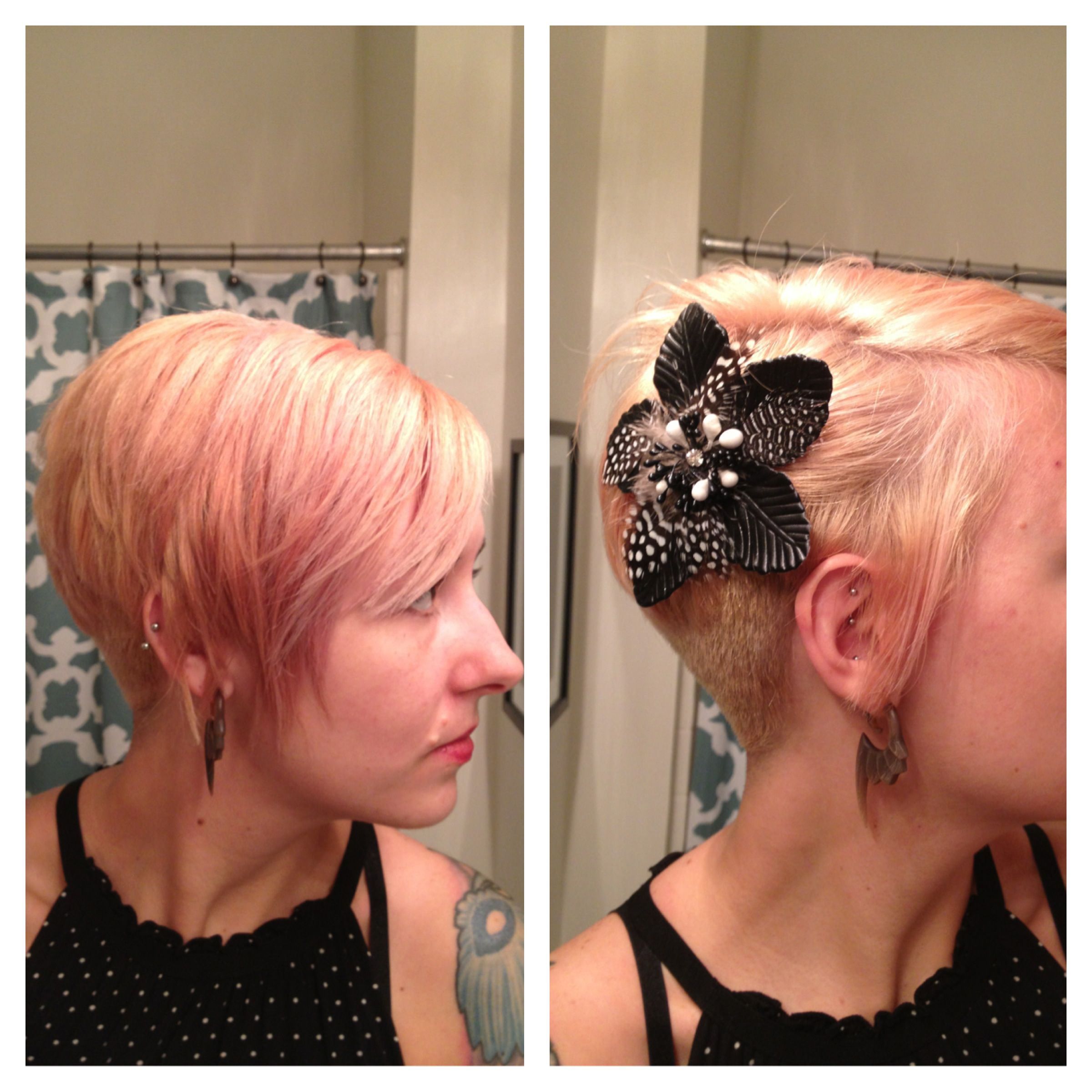 Asymmetrical Pixie Cut With Shaved Back Gra Bobs Pinterest
