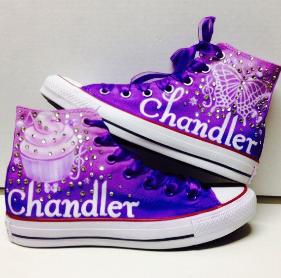 f8ed8e02bab9 Ombre custom personalized converse flawless airbrush by Plooms ...