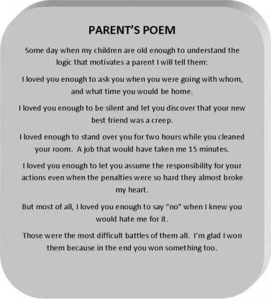 Pin by Kathleen Hunsaker on Inspired Insights | Parents poem