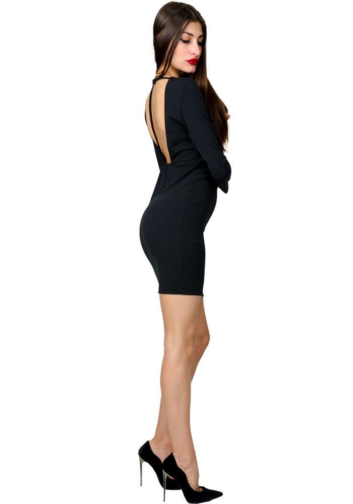 Φόρεμα mini κρεπ χιαστί  9d38913d58d
