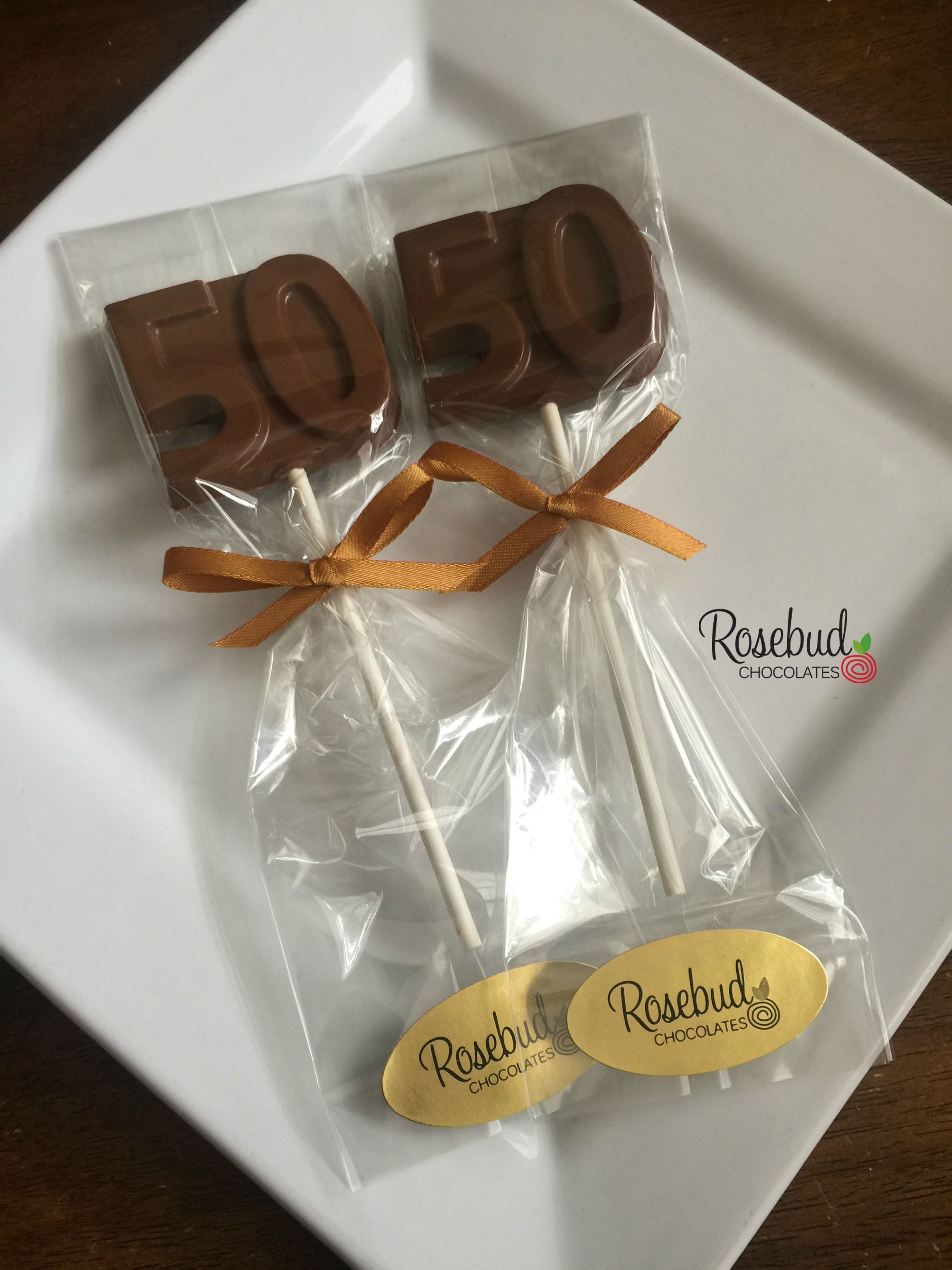 50th Anniversary or Birthday Party Favors Milk Chocolate Number