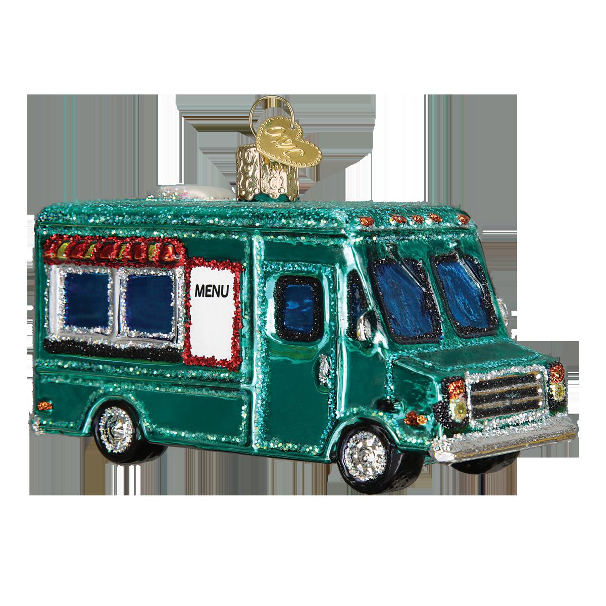 Food Truck #46060 BEST SELLER 2016! #transportation #bestseller #oldworldchristmas #ornaments #glass #foodtruck #new #OWC2016line #foodies