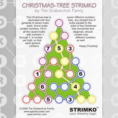 Perfect Age Of Puzzles   Christmas Tree Strimko