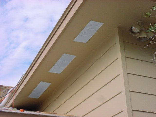 Green Vent Under Eave Vent Soffit Vents For Proper Home