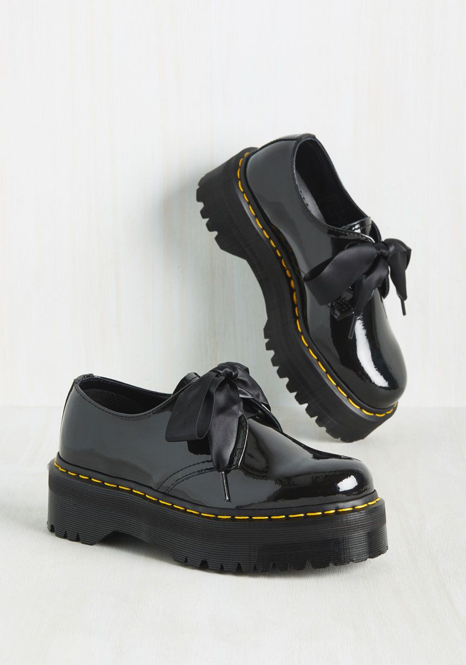 6eb7fe7bb7 Creep It Real Shoe. Show the world youre a bona fide fashionista by  sporting these black platforms with all sorts of ensembles.  black  modcloth