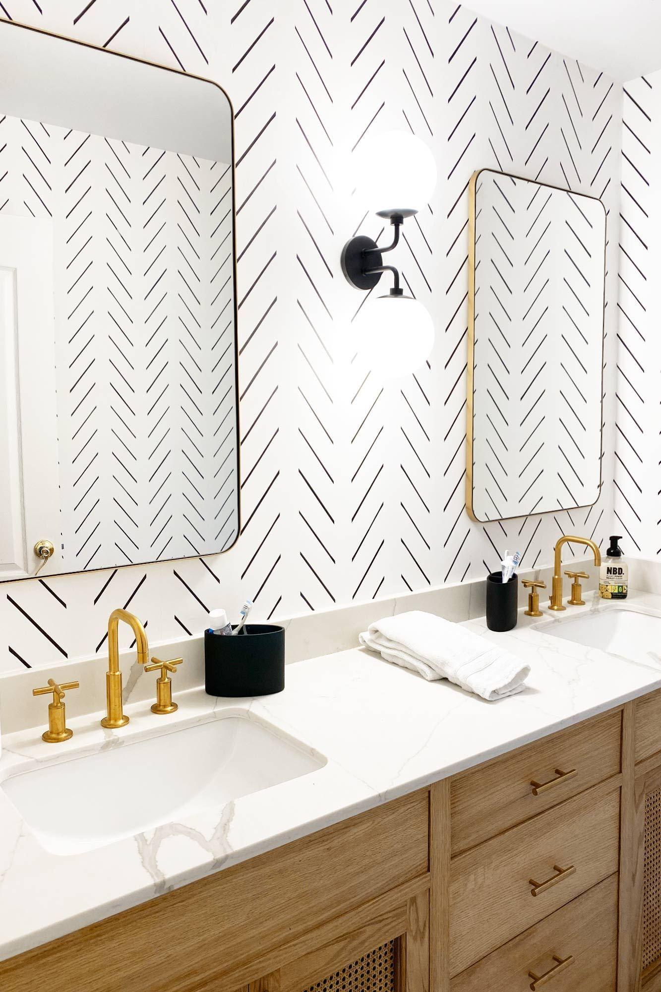 Wallpaper Trends 2021 Interior Design Trends In 2021 Bathroom Wallpaper Trends Herringbone Wallpaper Bathroom Wallpaper