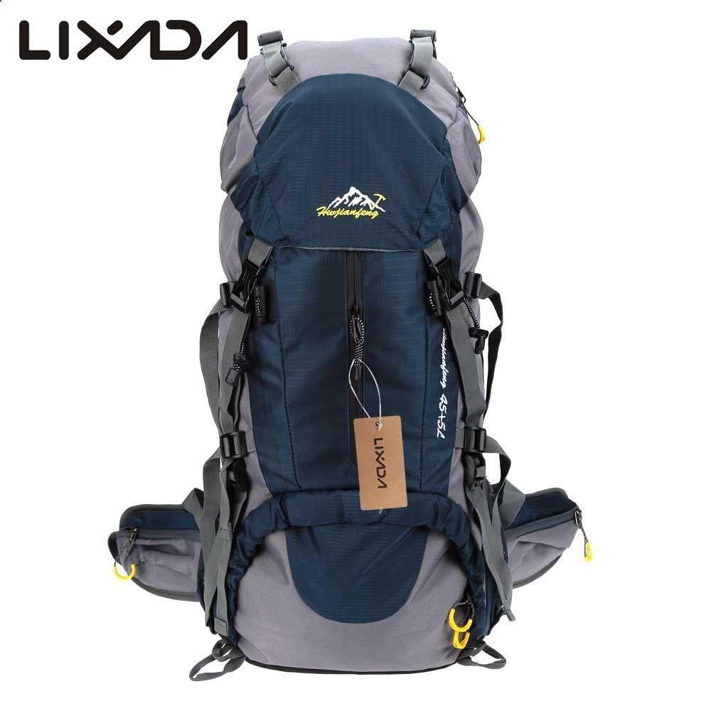 Camping Backpack - 50L Waterproof Outdoor Hiking Backpack Trekking ...
