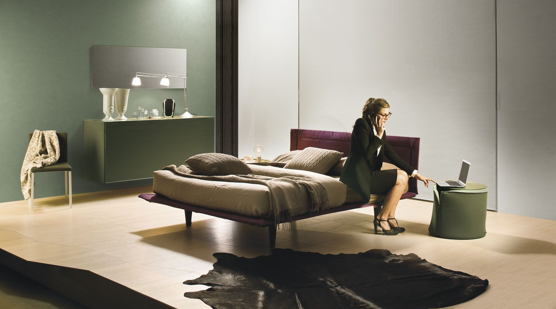 dubai bed frame by bolzan letti- this bed comes with an optional, Schlafzimmer entwurf