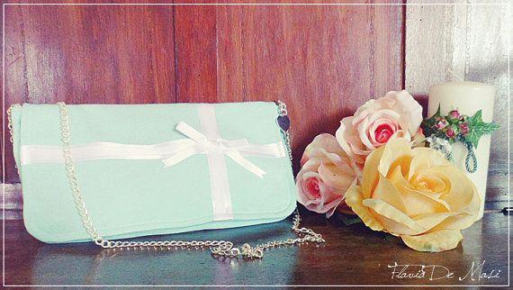 Amazing Clutch Bag Tiffany Box Inspired by FlaviaDeMasi on Etsy, €30.00