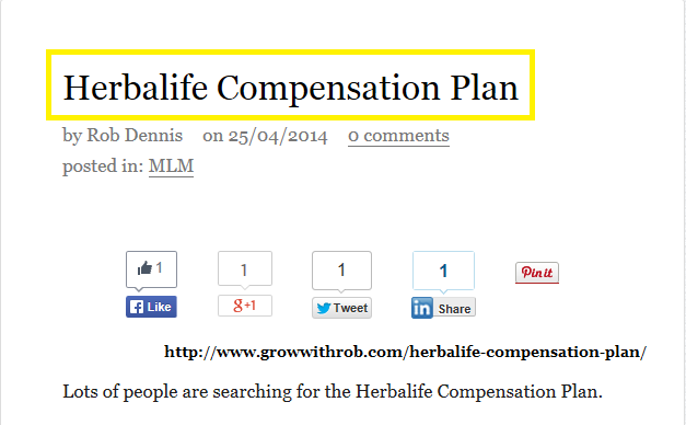 Herbalife Compensation Plan Herbalife Compensation Plan