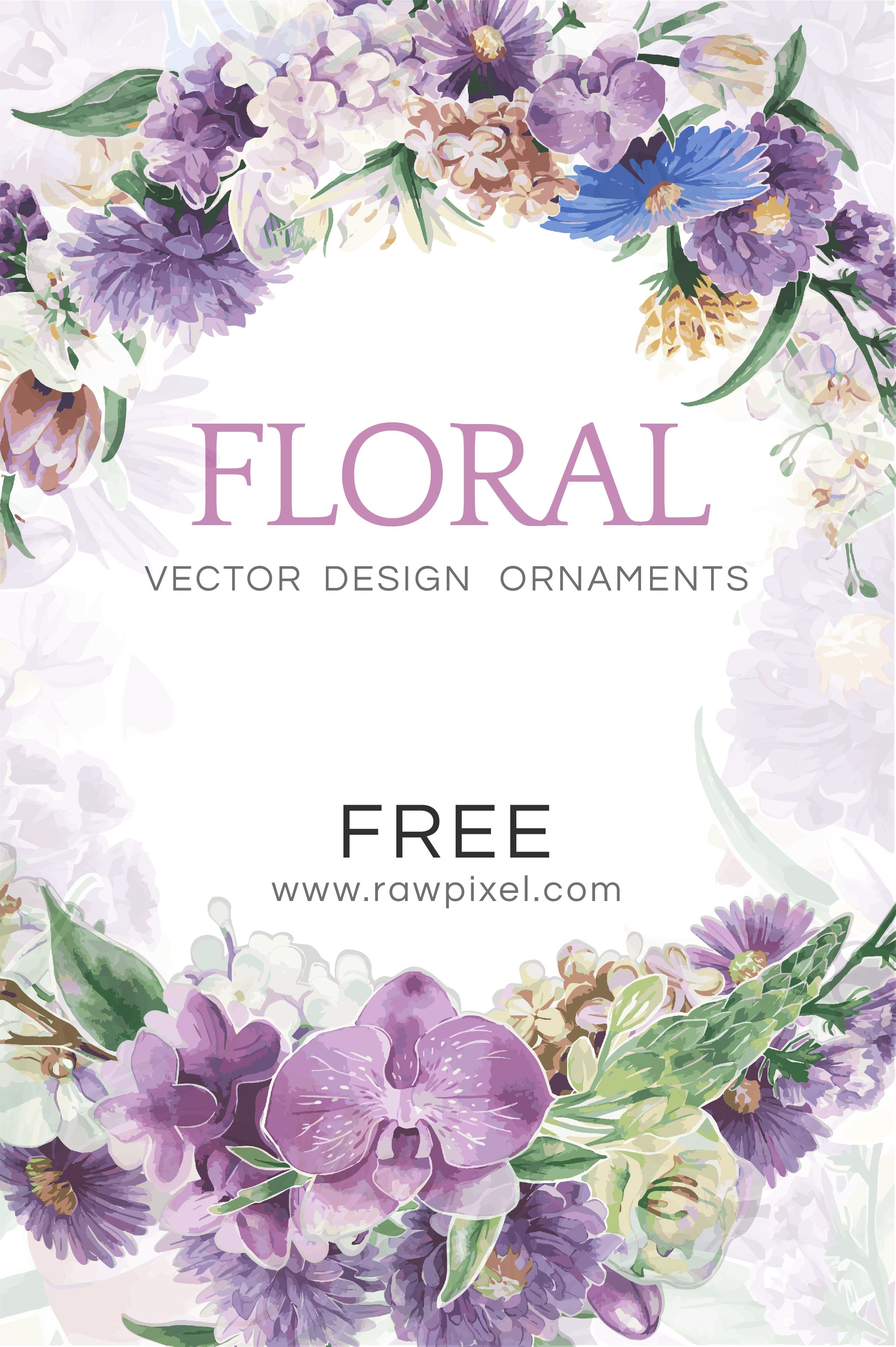 Download Free Floral Vector Design Ornaments At Rawpixel Com Free Vector Illustration Vector Design Free Design