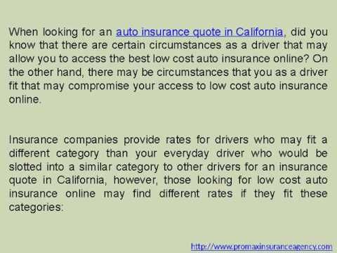 Auto Insurance Quotes California Youtube Insurance Quotes Car