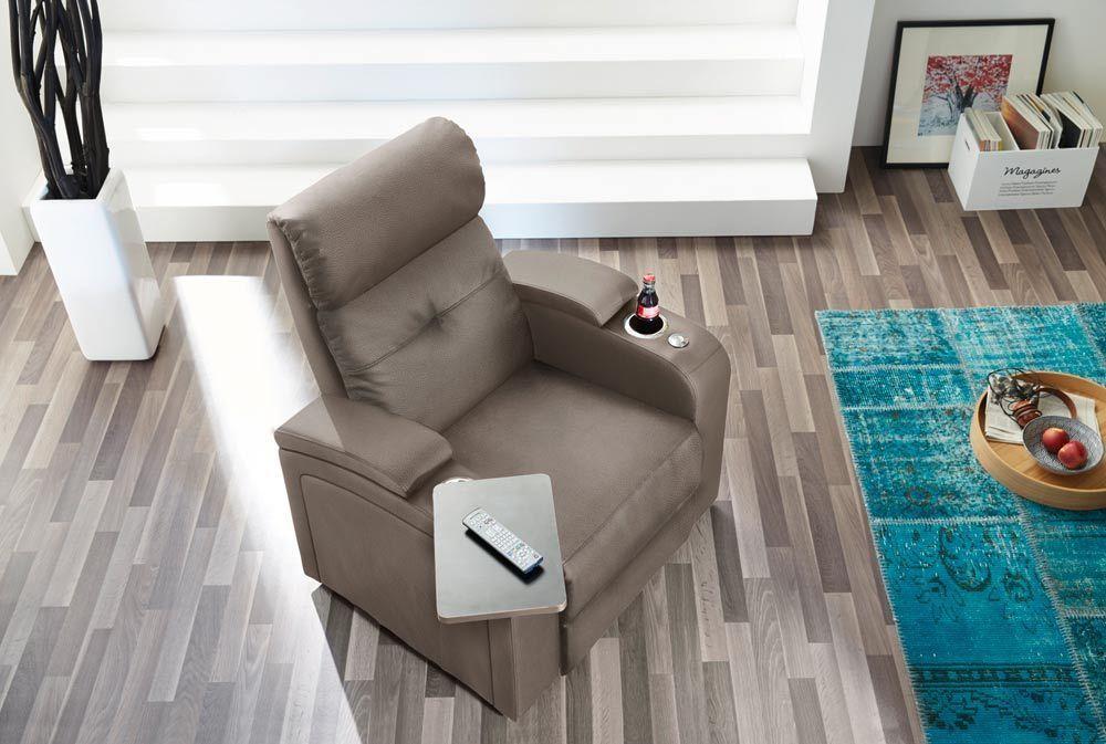 cinema sessel kinosessel fernsehsessel heimkino beige microfaser neu 27886 ebay manka. Black Bedroom Furniture Sets. Home Design Ideas