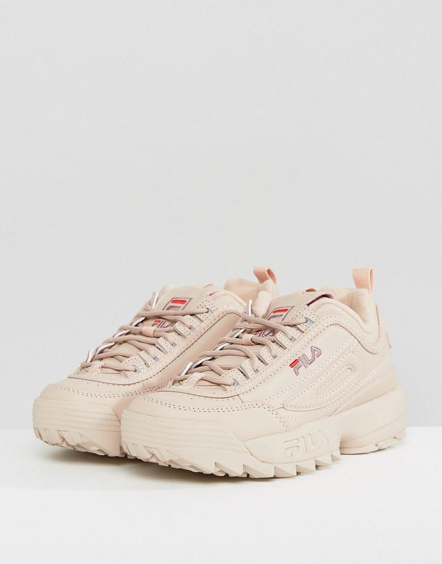 Fila Disruptor Low Sneakers In Nude   Обувь   Sneakers, Fila ... 59b6d2e46b6