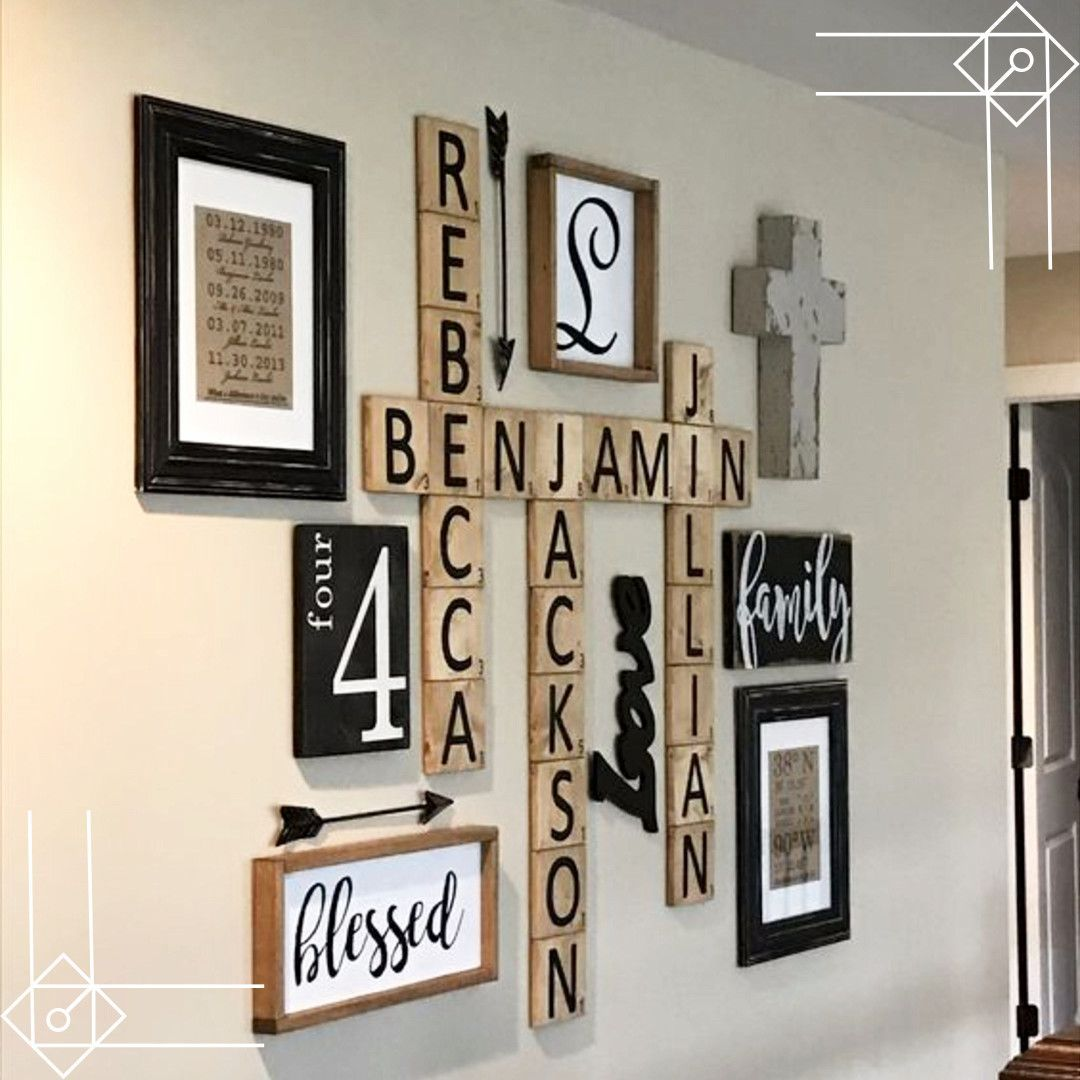 Scrabble Wall Art DIY Idea