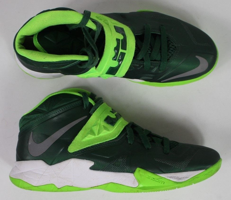 6726b17b28f Nike Air Zoom Soldier VII Lebron James Mens Size 8.5 Neon Green white  Basketball  fashion  clothing  shoes  accessories  mensshoes  athleticshoes
