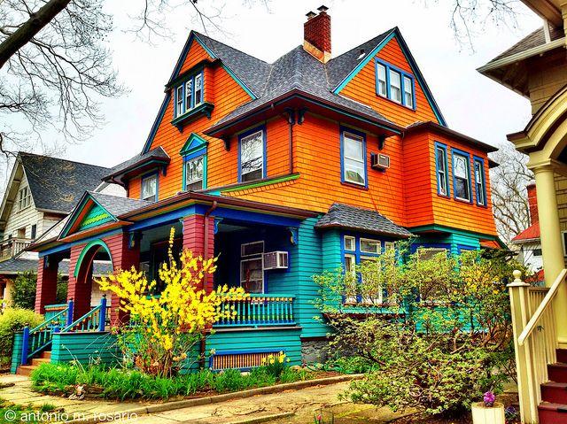 Springtime at a Ditmas House   Exterior house colors ...