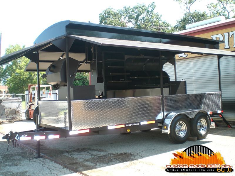 Custom made BBQ Pits by JJ Cooking Trailer Pinterest