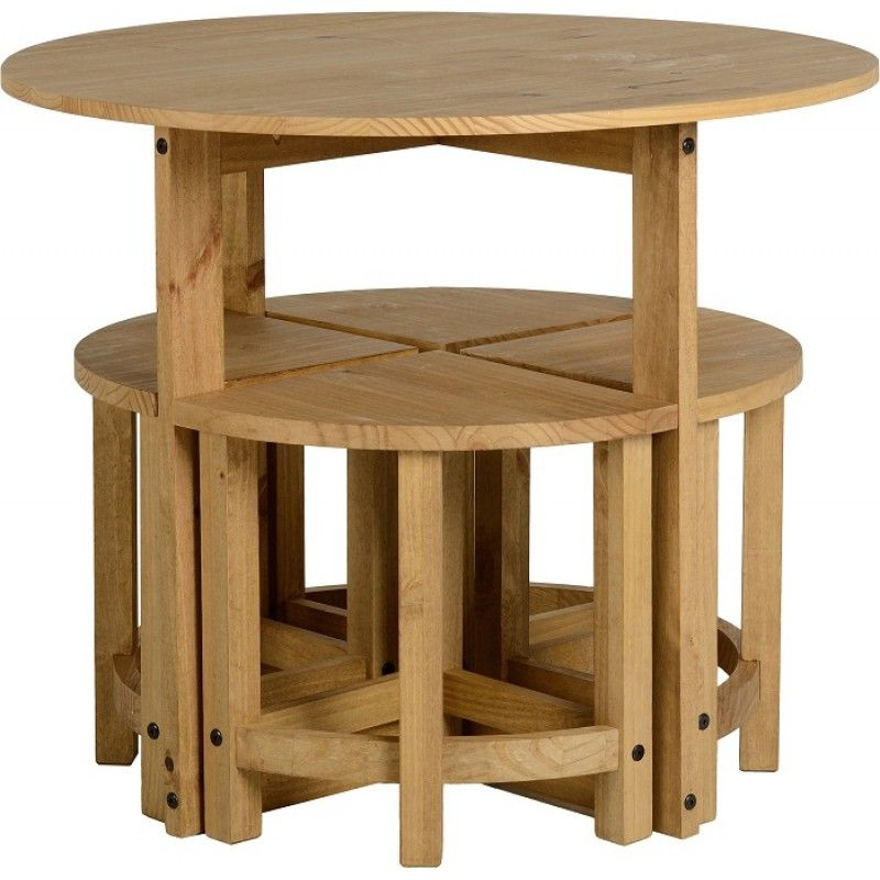 This Is Corona Stowaway Dining Set Manufactured By Pure Pine Including Round Dining Set With D Muebles Con