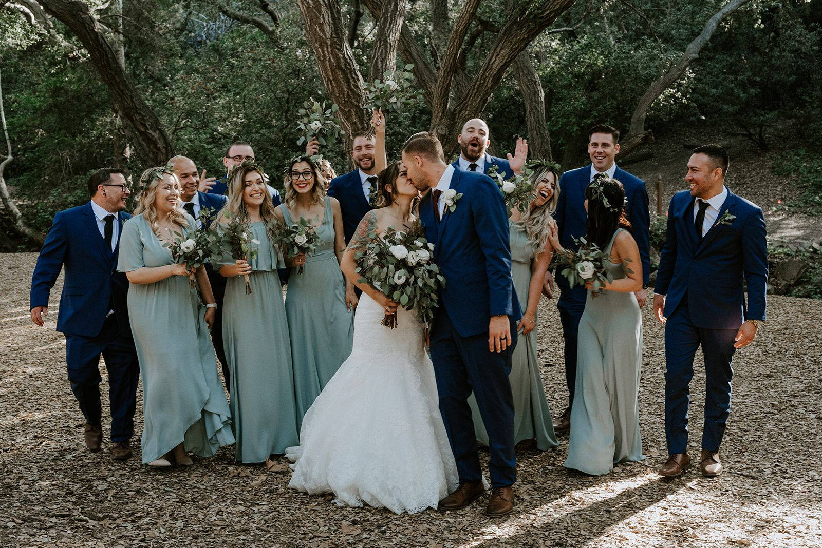 Sage Green Wedding With Lush Greenery Bouquets For A Simple And