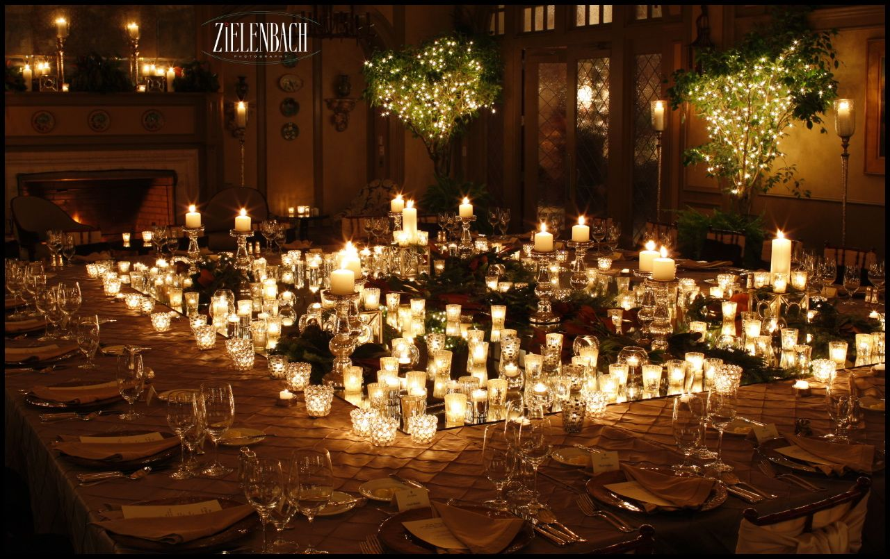 Wedding decorations trees with lights  Candles of Various Heights  Wedding Decor  Pinterest  Beach