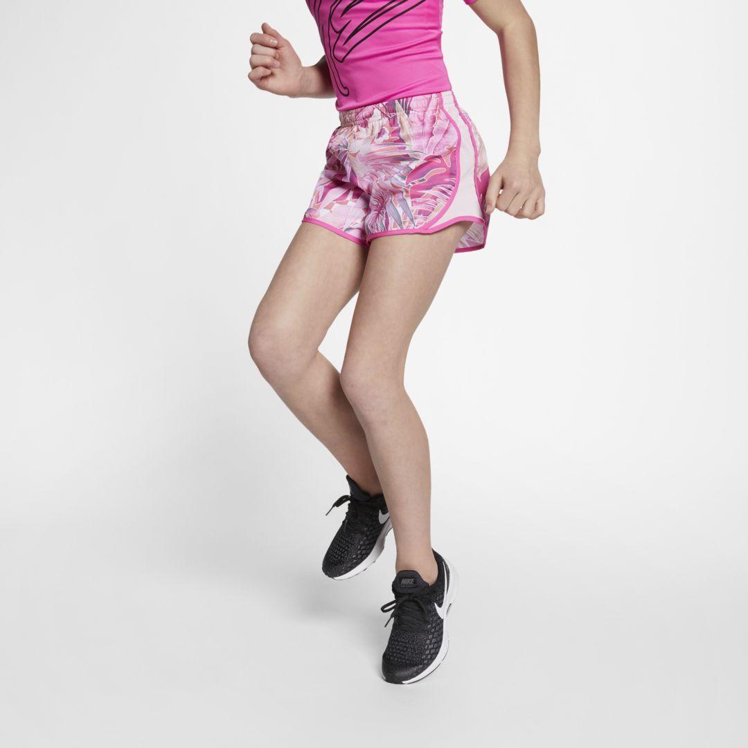 ab976cd4c Nike Dri-FIT Tempo Big Kids' (Girls') Printed Running Shorts Size L (Laser  Fuchsia)
