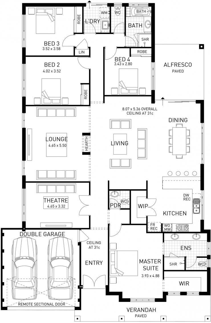 Canterbury Single Storey Floor Plan Wa Home Design Floor Plans House Blueprints House Design