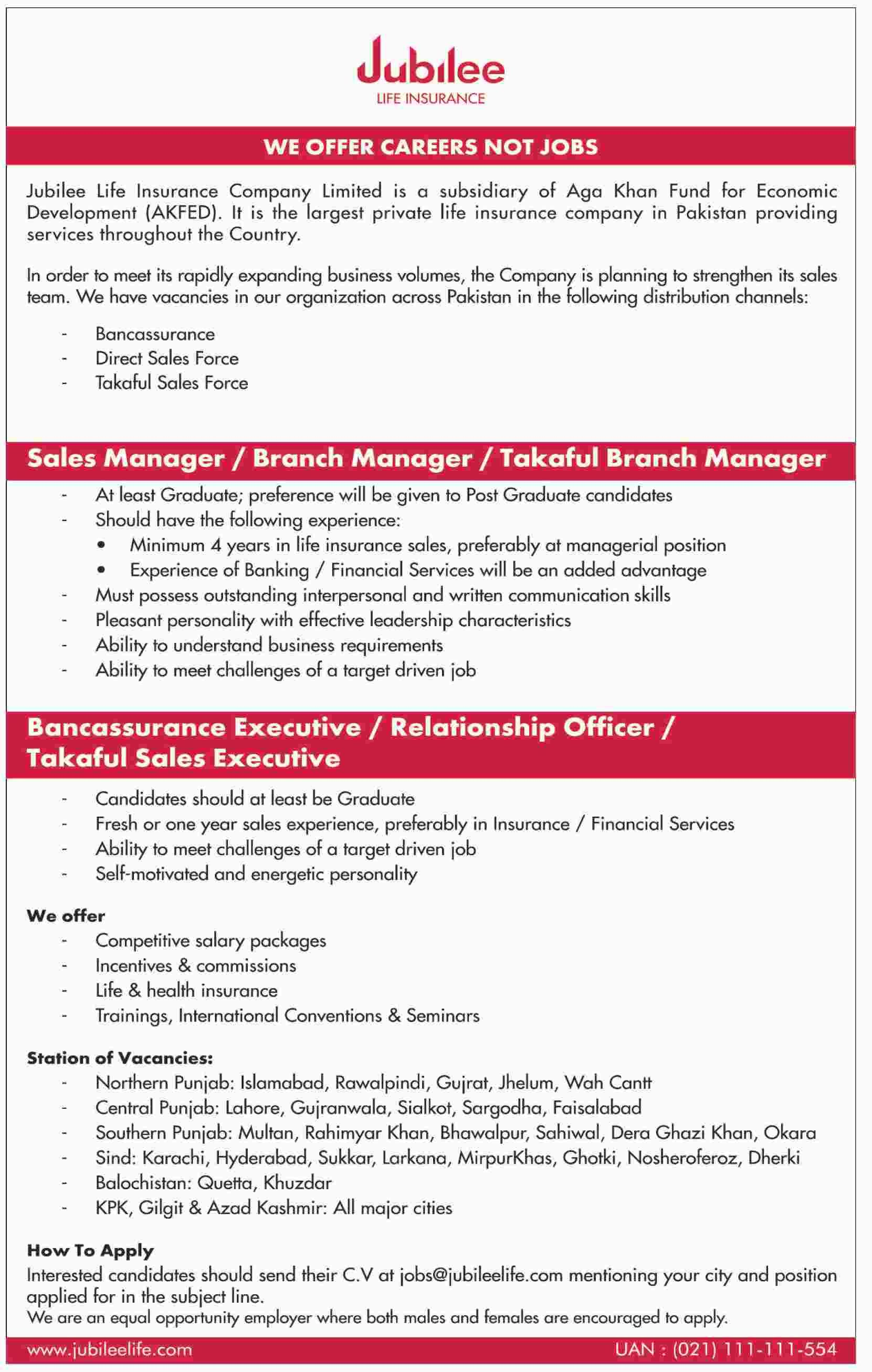 Job Alerts Life Insurance Companies Jobs In Pakistan Job