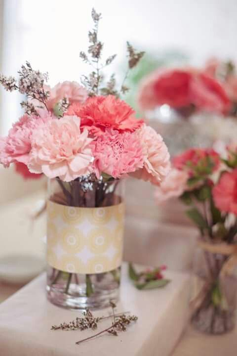 Arreglo Floral Con Claveles Carnation Centerpieces Pink Wedding Flowers Carnation Wedding