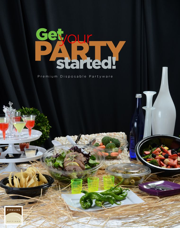 Summer parties done right! Upscale Disposable Dinnerware and ...