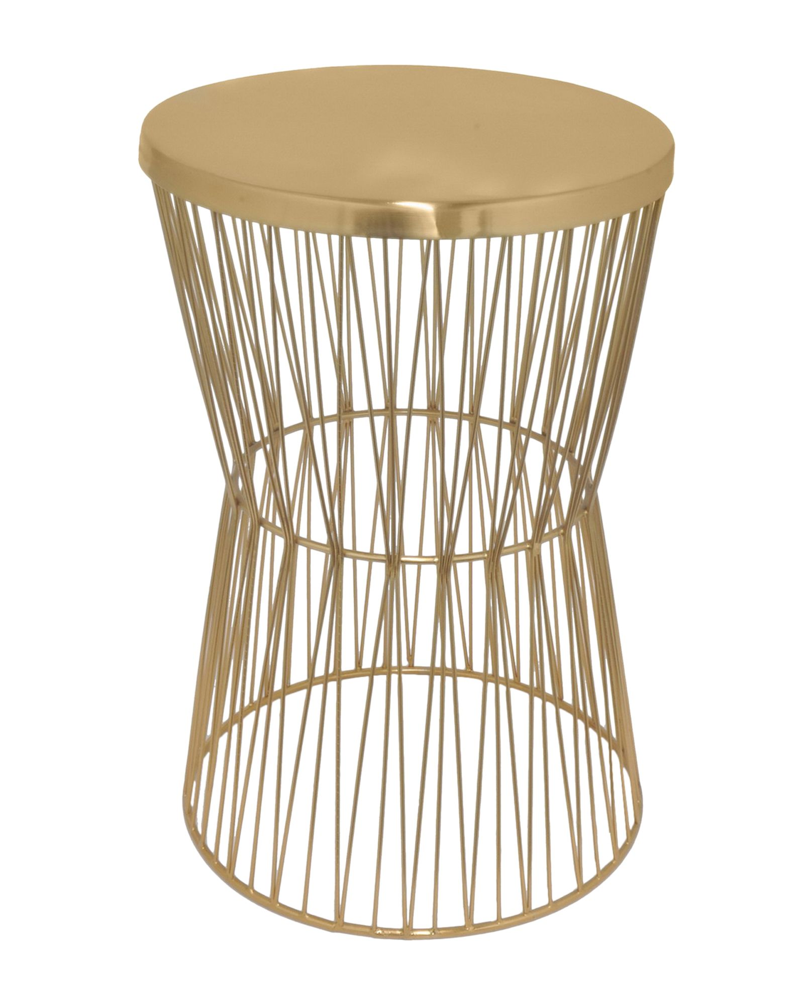 Three Hands Corp Copper Tone Accent Table