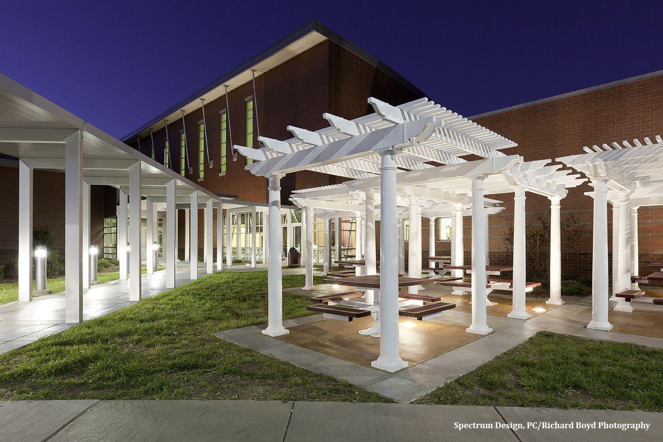 Custom Pergola designed for Eastern Montgomery Elementary