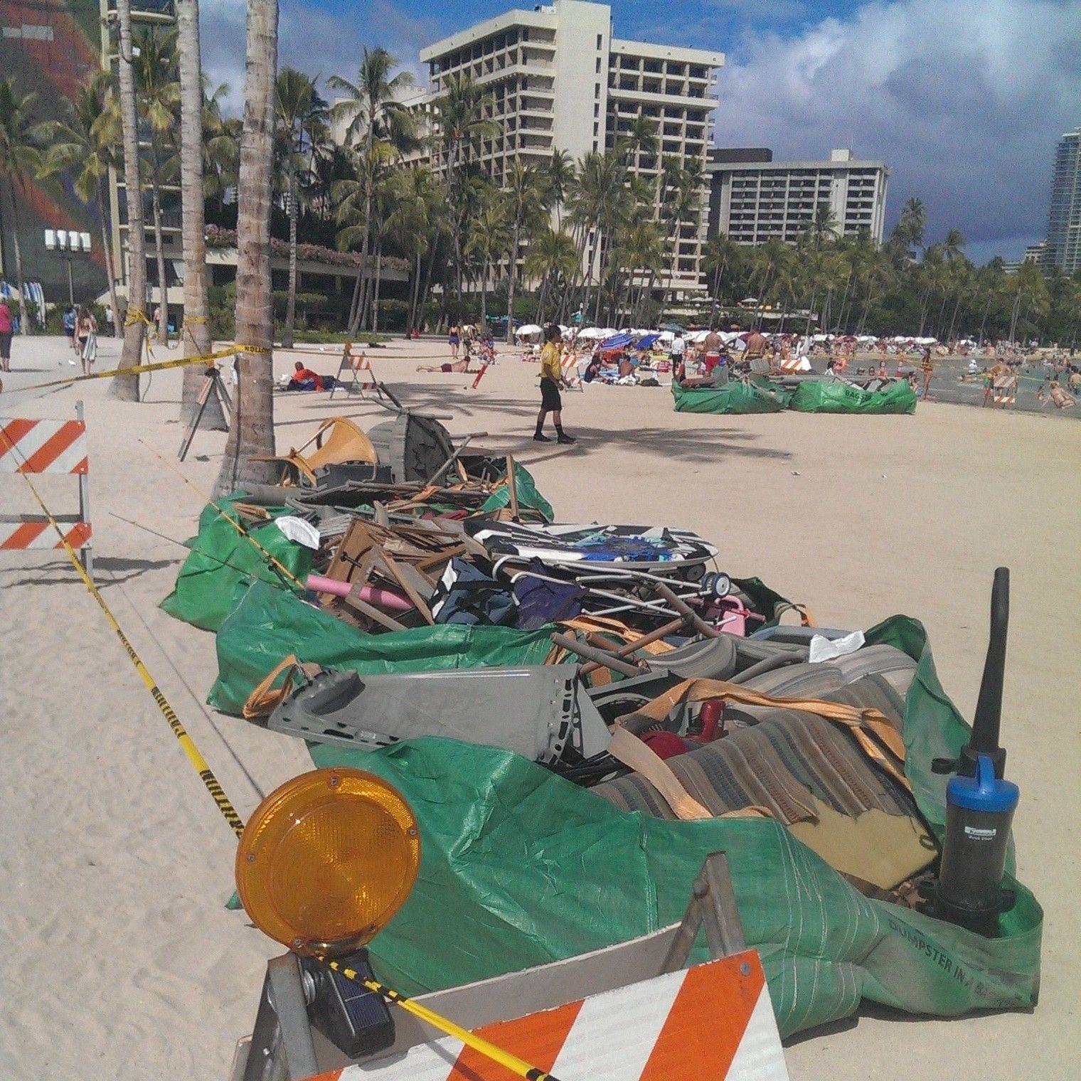 hawaiian godzilla coming to waikiki debris from