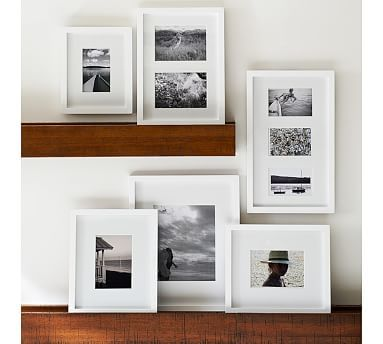 Gallery in a Box, Modern White Frames, Set of 15 | Woods, Picture ...