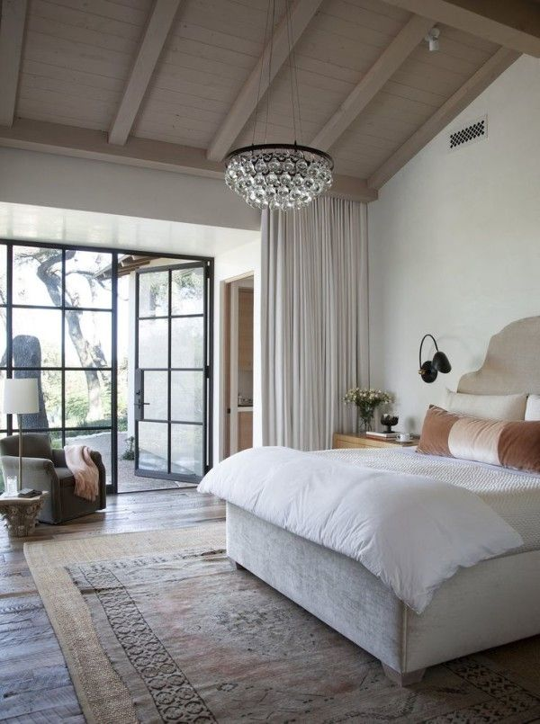 Master Bedroom Lighting Ideas Vaulted Ceiling From Wide Plank Beadboard Panel Above Natural