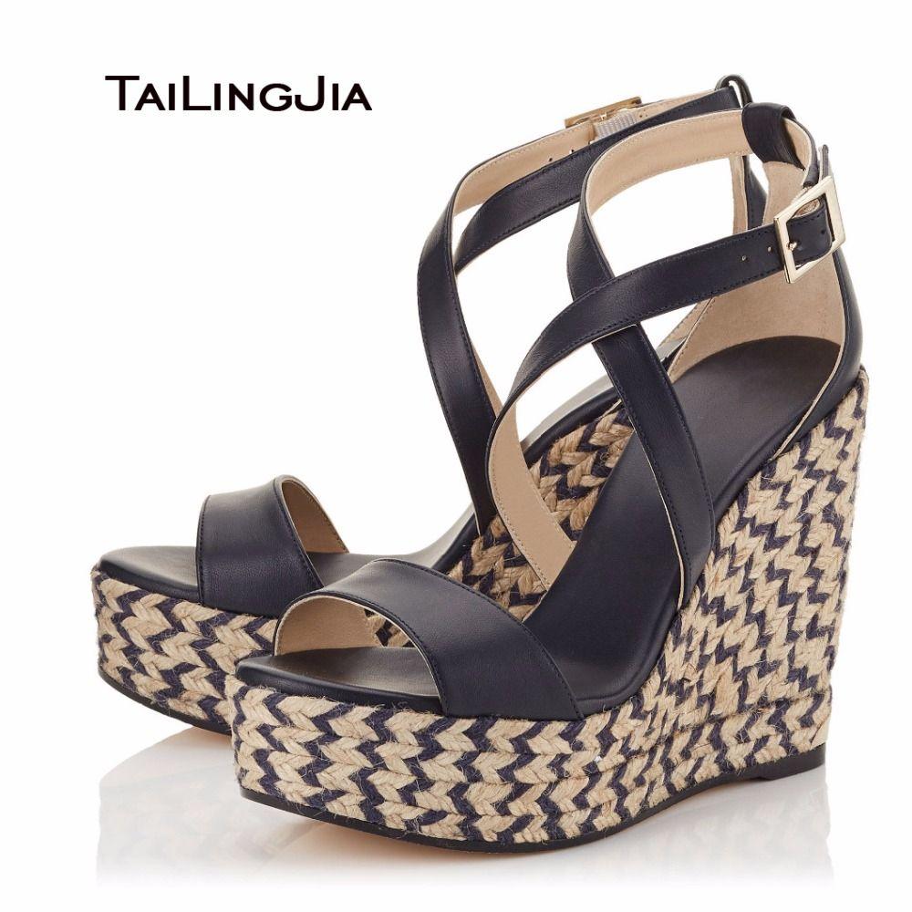 396ada4d7833 Click to Buy    2017 Ladies Shoes Wedges Sweet Women Hemp Rope Sandals