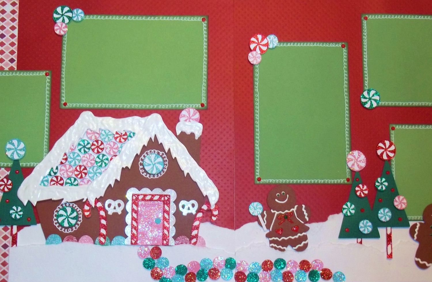 Premade Gingerbread Houses 2 Page 12x12 Premade Scrapbook Layout Gingerbread House And