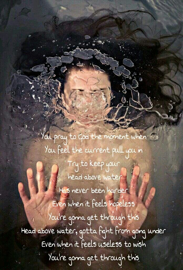 Head Above Water Theory Of A Deadman Theory Of A Deadman Water Quotes Song Lyric Quotes