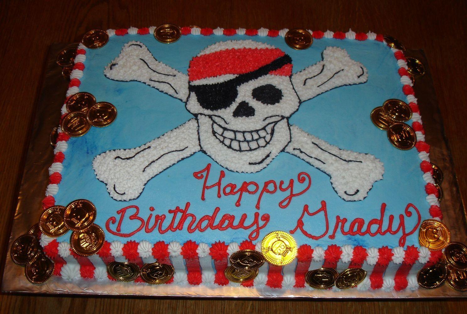 Kids Pirate Birthday Cakes