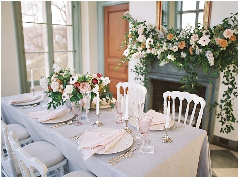 Misselwood Estate Wedding Pink And White Table Setting Blush And Greenery Wedding Flowers A Misselwood Weddings White Table Settings Bridal Styled Shoot